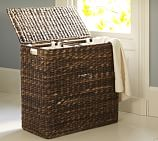 Perry Divided Hamper with Liners, Havana Weave