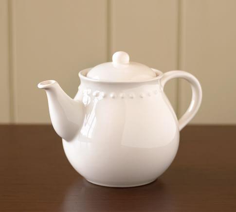 Emma Teapot, White