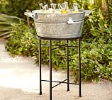 Rivet Galvanized Metal Party Bucket