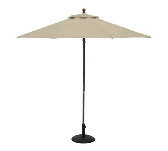 9' Round Market Umbrella Canopy Replacement - Outdoor Canvas, Stone