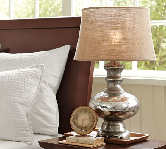 CFL Mercury Glass Table Lamp, Base Only