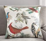 Holiday Fauna Print Pillow Cover, 20 x 20