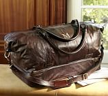 Saddle Leather Weekender Bag, Chocolate
