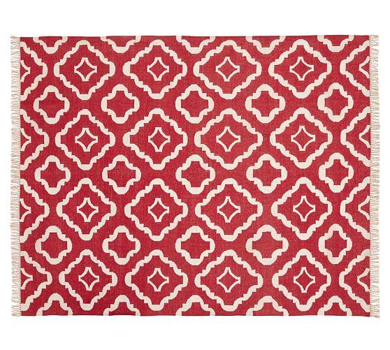 Lily Indoor/Outdoor Rug, 5 x 8', Red