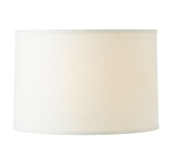 linen straight drum lamp shade large ivory. Black Bedroom Furniture Sets. Home Design Ideas