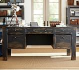 Dawson Wood Desk, Large, Weathered Black finish