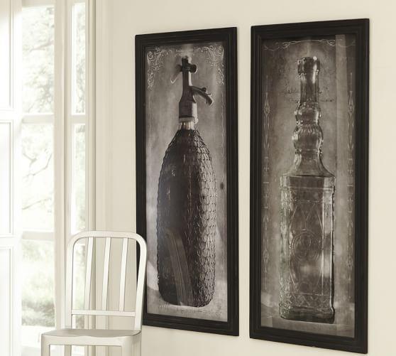 Framed Vintage Liquer Bottle Print