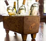Blond Wood Wine Trough