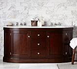 Brinkley Demilune Double Sink Console, Espresso Finish