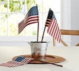 Fourth of July Outdoor Burlap Flag, Set of 4