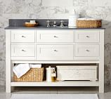 Classic Single Wide Sink Console Base only, White