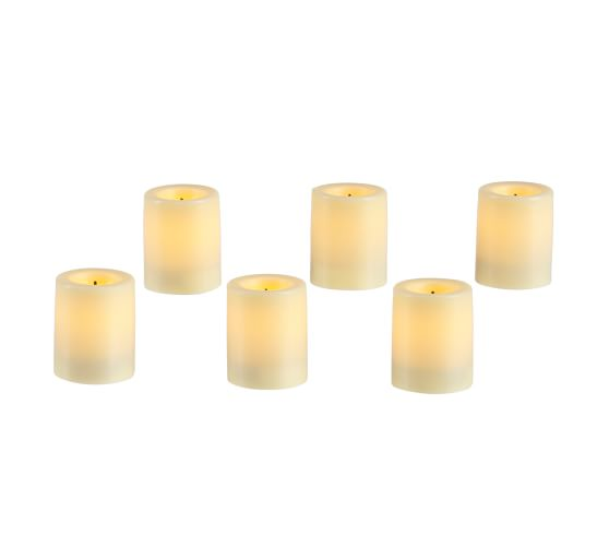Flameless Wax Votive Candle, Set of 6