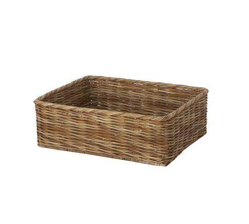 Shayne Woven Arurog Kitchen Basket, Natural finish