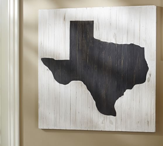Texas State Large Wall Art, 36 x 36