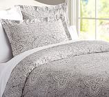 Adelaide Organic Duvet, Twin, Gray Multi