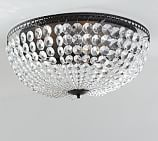 Mia Faceted-Crystal Oversized Flushmount Ceiling Fixture