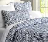 Zig Zag Quilt & Shams, Twin, Blue