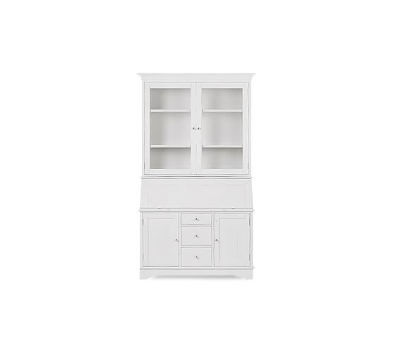 Graham Desk/Bar & Hutch Set, Antique White