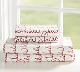 Fa La La Sheet Set, Twin, Red