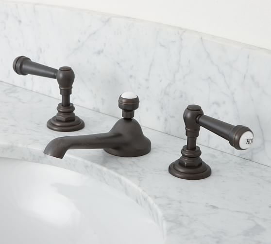 Reyes Lever-Handle Widespread Bathroom Faucet, Antique Bronze Finish