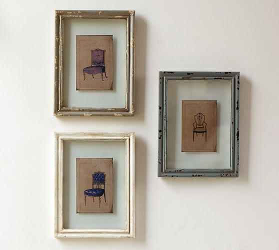 Framed Chair Prints, Set of 3