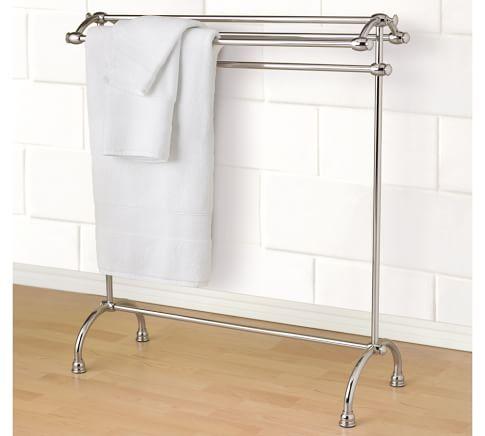 Mercer Towel Stand, Polished Nickel finish