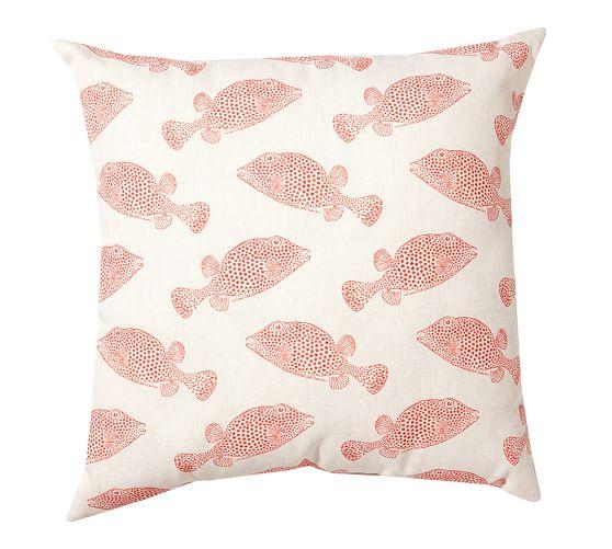 Puffer Fish Outdoor Pillow, 20