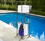 Bronze finish Pool Accessory Towel Valet/Hamper