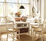 Shayne Dining Table & Isabella Chair Set, Antique White