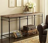 Parquet Reclaimed Wood & Metal Console Table