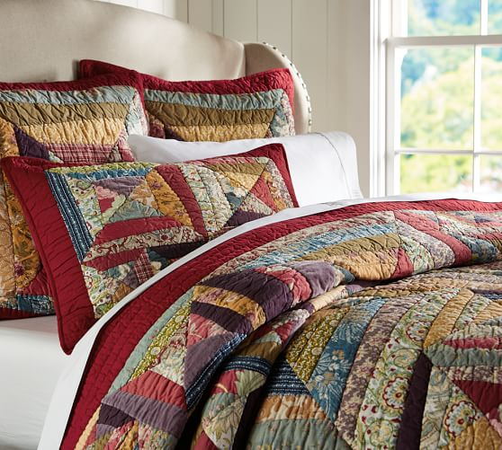 Bandana Patchwork Quilt, Twin, Multicolor
