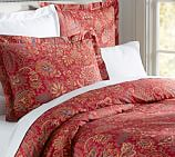 Piper Floral Duvet Cover, Twin, Red