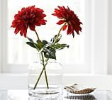 Faux Dahlia Stem, Red