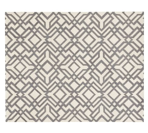 Shelby Tufted Wool Rug, 9x12', Gray