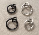 PB Essential Round Rings, Set of 7, Small, Pewter Finish