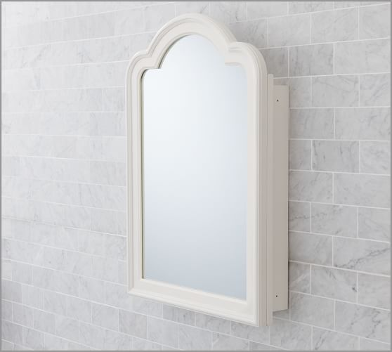 D'Orsay Medicine Cabinet, Wall-Mounted, White