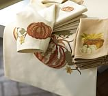 Pumpkin Embroidered Table Runner, 18 x 108