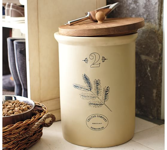 Vintage Food Storage Container with Scoop
