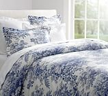 Matine Toile Duvet Cover, King/Cal. King, Twilight Blue