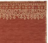 Desa Bordered Wool Rug Swatch, Terra Cotta