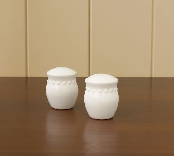 Emma Salt & Pepper Shakers, White