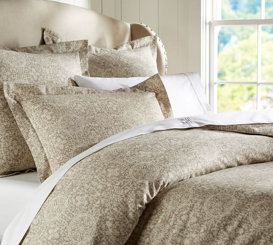 Sammie Tile Bedding Swatch, Brownstone