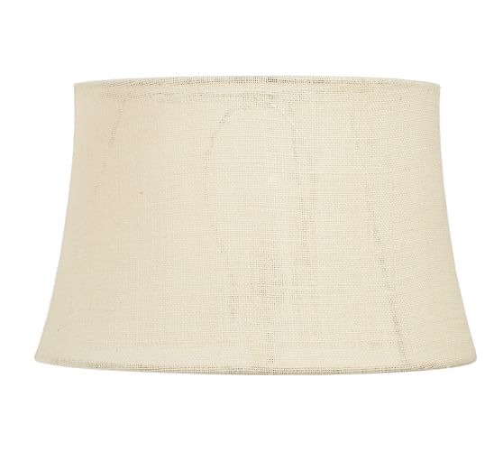 Burlap Tapered Drum Lamp Shade, Large, Bleached