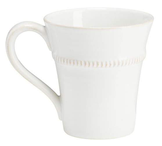 Gabriella Mug, Set of 4, White