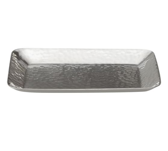 Hammered Nickel Soap Dish, Polished Nickel finish