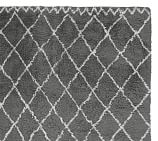 Beni Ourain Hand-Loomed Wool Rug Swatch, Gray