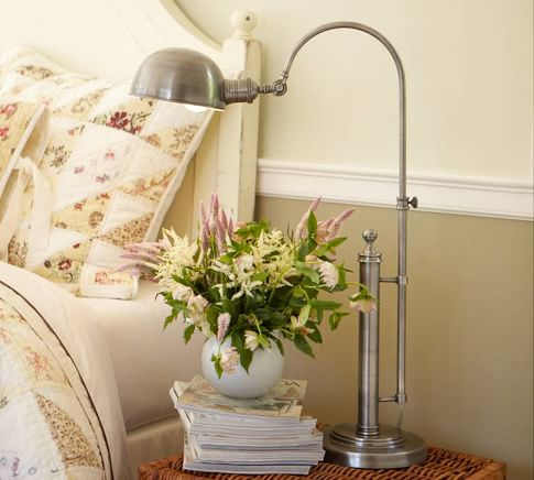 Barclay Arc Table Lamp - Antique Silver finish