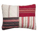 Multistripe Patchwork Sham, Standard, Multicolor