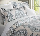 Lucianna Medallion Duvet Cover, Full/Queen, Blue