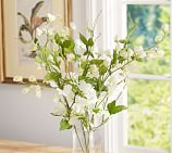 Faux Sweet Pea Vine, White